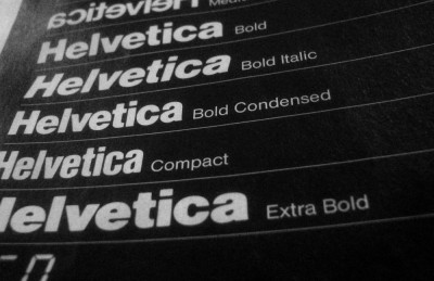 Helvetica, gods of fonts. I don't like the a.
