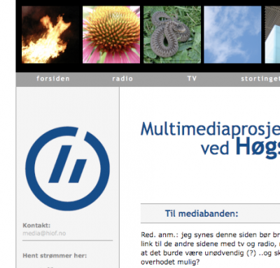 multimedia site, HIØ